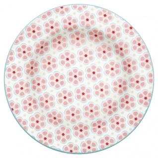 Greengate Teller LEAH PALE PINK Rosa 15 cm Porzellan Geschirr Kuchenteller