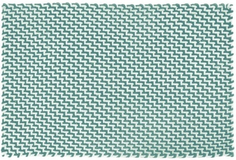 Pad Outdoor Teppich POOL Opal Türkis / Weiß 72x132 cm Badezimmer Matte Fußmatte