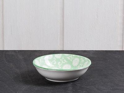 IB Laursen Schale LIVA Mini grün weiß Blumen Geschirr Schüssel Porzellan