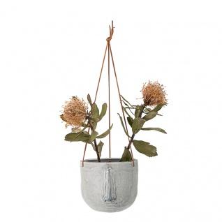 Bloomingville Blumentopf Hänger Nase Grau 17 cm Hängetopf Übertopf Blumenampel