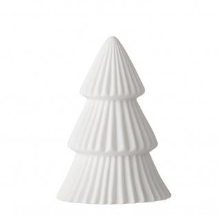 Bloomingville LED Tannenbaum Porzellan weiß 10 cm Weihnachtsdeko Weihnachten