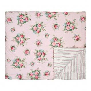 Greengate Quilt AURELIA Pale Pink 140x220 Tagesdecke Baumwolle Decke Überwurf - Vorschau