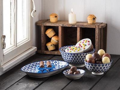 IB Laursen Schale LIVA Mini blau weiß Blumen Geschirr Schüssel Porzellan - Vorschau 5