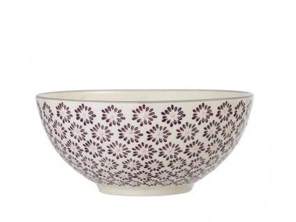 Bloomingville Schale MAYA Keramik Schüssel 650ml Geschirr Müslischale Blumen rot