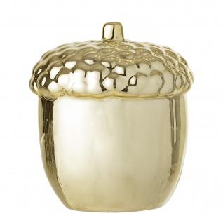 Bloomingville Deko Objekt Eichel gold Porzellan Figur 9 cm Weihnachtsdeko Tisch