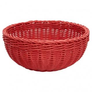 Greengate Brotkorb Rot Runder Korb aus Kunststoff 9x 22 cm
