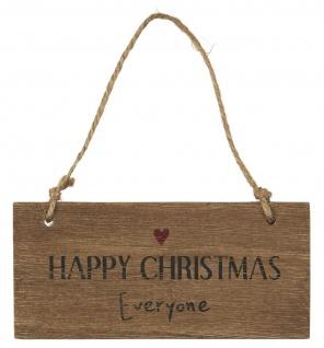 IB Laursen Holzschild - Happy Christmas Everyone - Deko Schild Weihnachtsdeko