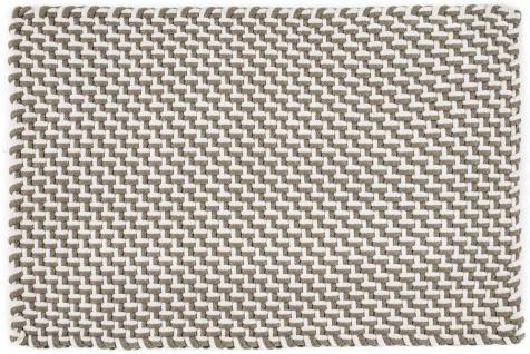 Pad Outdoor Teppich POOL Sand / Weiß 140x200 Badezimmer Matte Design Badematte