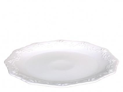 Chic Antique Essteller PROVENCE Porzellan Geschirr Weiß 27 cm Speiseteller