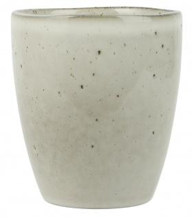 IB Laursen Becher DUNES Sand ohne Henkel Keramik Geschirr Tasse 250ml Cafe Latte