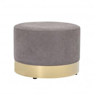 Bloomingville POUF DIA Grau / Gold 55 cm Hocker Rund Sitzpuff Beistelltisch