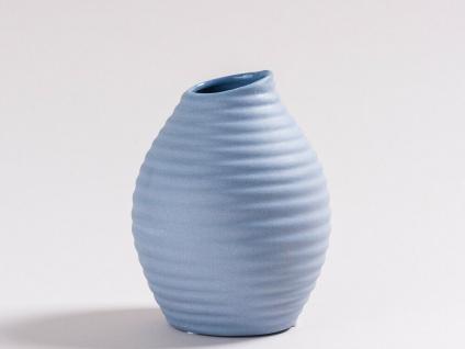 Vase SMILE blau 13.5 cm Blumenvase Keramik skandinavische Deko Tischdeko