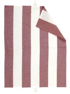 Linum Geschirrtuch RAVIOLI Rot Gestreift Baumwolle 50x70 Handtuch Streifen