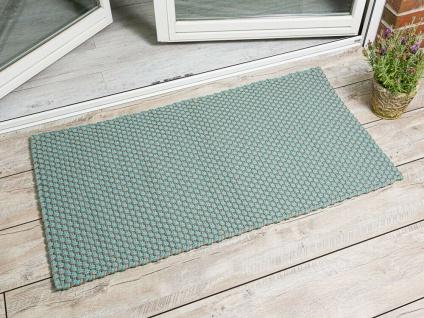 Pad In / Outdoor Matte POOL Aqua Türkis Beige 72x132 Fussmatte Badezimmermatte