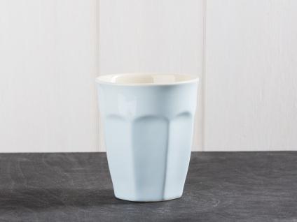 IB Laursen MYNTE Cafe Latte Becher Blau Keramik Geschirr STILLWATER Tasse 250 ml