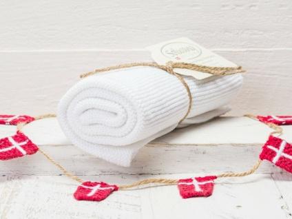 Solwang Küchentuch WEISS gestrickt Putztuch Handtuch Geschirrtuch Gästehandtuch