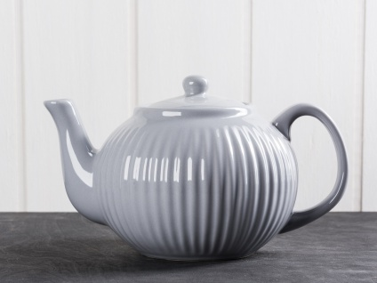 IB Laursen MYNTE Teekanne Grau Keramik Kanne FRENCH GREY 1 Liter Geschirr