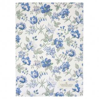 Greengate Geschirrtuch DONNA Blau Blumen Baumwolle 50x70 Küchentuch