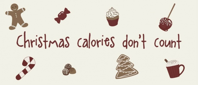 IB Laursen Metallschild - Christmas Calories don't count - Deko Schild Weihnacht