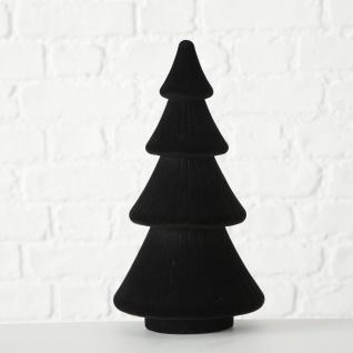Tannenbaum Schwarz Samt 30 cm Kunststoff Deko Figur Weihnachtsdeko Geschenk