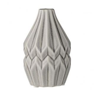 Bloomingville Vase Wide Flute Cool Grey Blumenvase grau Keramik