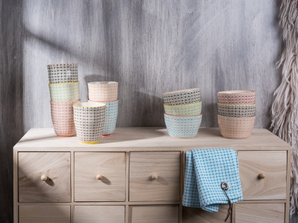 Bloomingville Carla Müslischale schwarz creme Schale Schüssel Keramik Geschirr - Vorschau 2