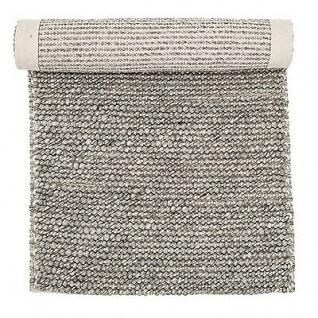 Bloomingville Teppich Wolle Baumwolle grau 60x120 Läufer Matte