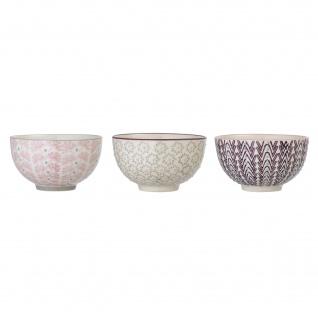 Bloomingville Schale MAYA 3er Set Keramik Schüssel 350ml Geschirr Müslischale