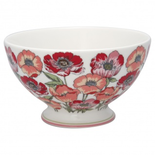 Greengate Schale ARIA Weiß Bowl 500 ml Porzellan Geschirr Blumen Müslischale