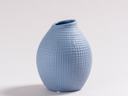 Vase LUCKY Blau Keramik Blumenvase 13.5 cm Skandinavisches Design Nordic Style