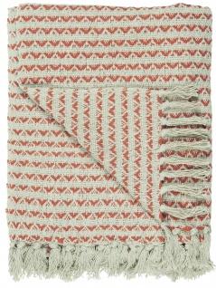 IB Laursen Plaid Creme Sunset Baumwolle Decke 130x160 Wolldecke Kuscheldecke