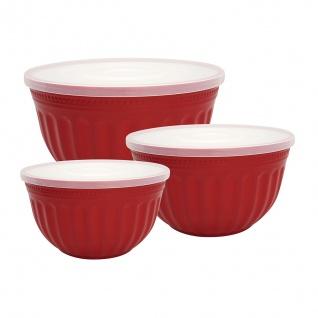 Greengate Schalenset ALICE Rot Schalen mit Deckel 3er Set RED Schüssel