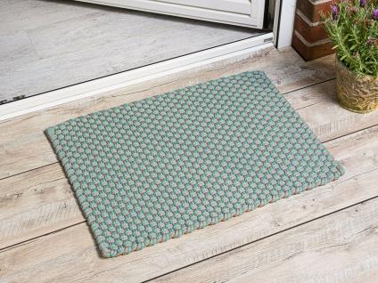 Pad In / Outdoor Matte POOL aqua türkis beige 52x72 Fussmatte Badezimmermatte