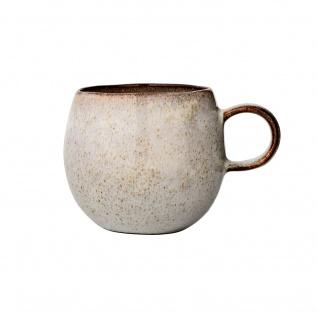 Bloomingville Becher SANDRINE Grau Keramik Geschirr Tasse Kaffeebecher Teebecher