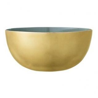 Bloomingville Schale Alu gold grün 15 cm Deko Schüssel Bowl