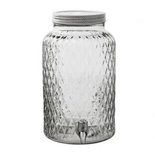 Bloomingville Getränke Spender 6 Liter Glas mit Zapfhahn und Deckel Drehverschlu