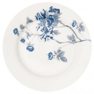 Greengate Teller CHARLOTTE Weiß Blau 20 cm Porzellan Geschirr Kuchenteller