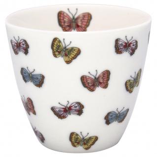 Greengate Latte Cup MAISIE Weiss mit Schmetterlingen Kaffeebecher 300 ml