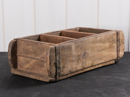 IB Laursen ZIEGELFORM 3-fach UNIKA aus Holz Unikat Aufbewahrung Box Holzkiste