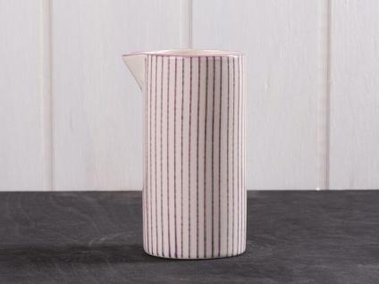 IB Laursen Kanne Casablanca lila weiß 0.2 Liter Streifen Geschirr Milchkännchen