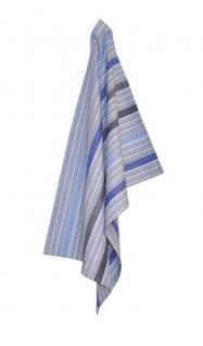 Solwang Geschirrtuch STREIFEN Blau Geschirrhandtuch Bio Baumwolle 50x70