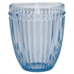Greengate Glas ALICE PALE BLUE Blau Wasserglas 300 ml Trinkglas Saftglas