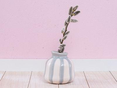 A Simple Mess Vase LYST 10 cm HELLGRAU CREME Blumenvase 10 cm Deko Skandinavien