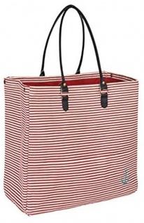 Pad Tasche ANKER Rot Weiß Streifen Shopper 52x40 Einkaufstasche Strandtasche