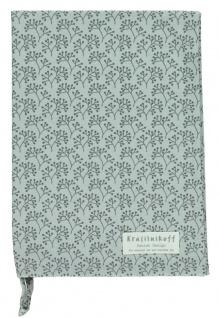 Krasilnikoff Geschirrtuch BERRIES Grau Baumwolle 50x70 Geschirrhandtuch