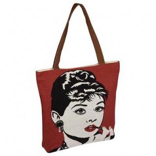 Pad Tasche FAME dusty pink Audrey Movie Star rot Filmstar Handtasche