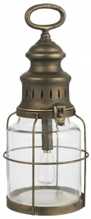 IB Laursen LED LATERNE Gold Henkel Hängelampe Batteriebetrieb 31 cm Lampe Metall