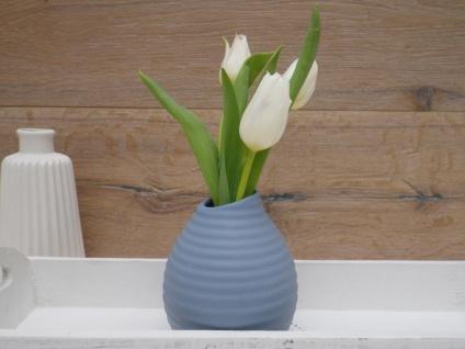 Vase SMILE blau 13, 5 cm Blumenvase Keramik skandinavische Deko Tischdeko