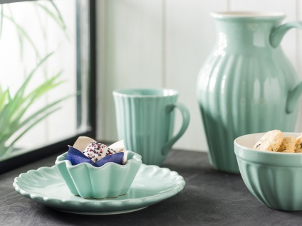 IB Laursen MYNTE Becher Rillen Grün GREEN TEA Keramik Geschirr Tasse 250 ml - Vorschau 3