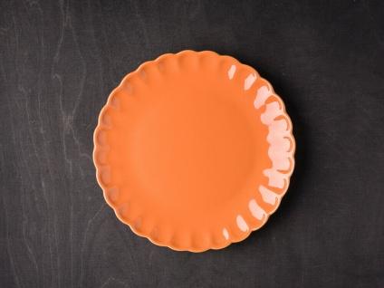 IB Laursen MYNTE Kuchenteller Orange Keramik Teller 21 cm PUMPKIN SPICE Geschirr